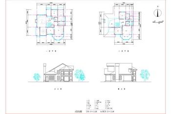 European style small villa structure chart