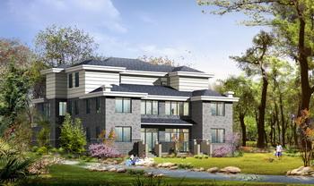 Two-tier luxury European style villa