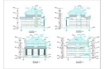 Traditional villa construction drawings