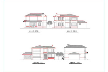 Two Story Villa Cad Drawings Free Download