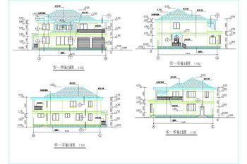 Two-story rural residential with basement  CAD drawings