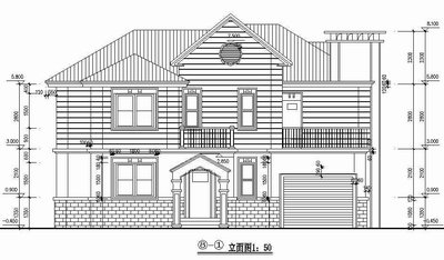 Two-story luxury villa full set CAD drawings
