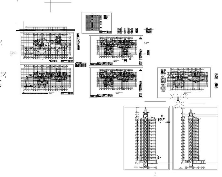 A ladder two multi-storey residential CAD design drawings