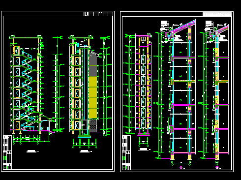 Seven-story residential building CAD drawings