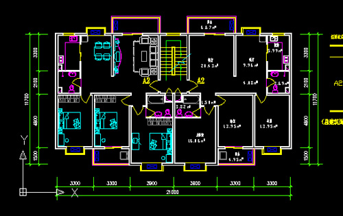 Ordinary residential building design CAD ​​drawings