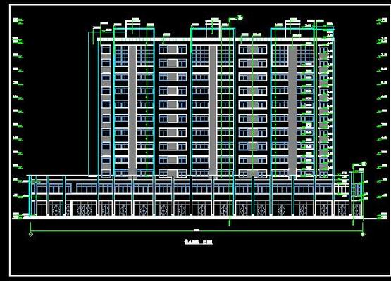 Front Elevation Of Residential Building In Autocad : Download free d model autocad textture vector psd