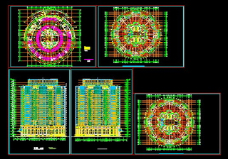 Circular building CAD drawings
