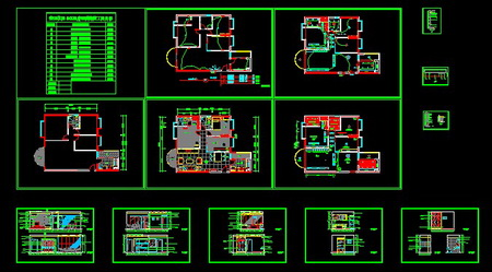 Drawing three bedroom decoration free download Opensource cad dwg