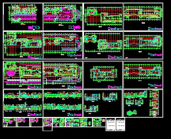 Commercial building construction a full set of CAD plans