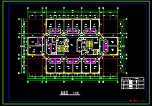 High-rise hotel building design CAD drawings