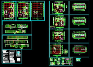 Multi-storey hotel building CAD drawings