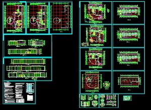 Multi-storey hotel building CAD drawings