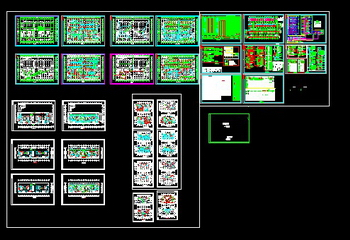 A full set of high-rise apartment Electrical CAD drawings