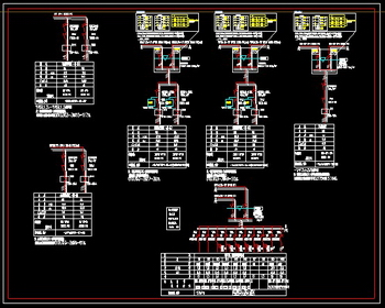Standard wiring diagram distribution box CAD