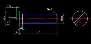 Cylinder head screw CAD drawings