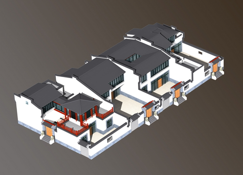 North courtyard building design and construction drawings (View)