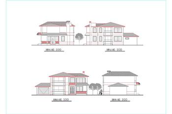 Modern style residential villa construction-1