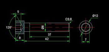 Hexagon socket head cap screws CAD drawings