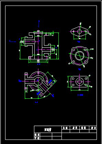 Four-pass shell welding CAD drawings-2