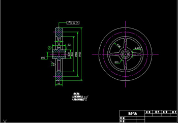 The flywheel Wheels CAD drawings