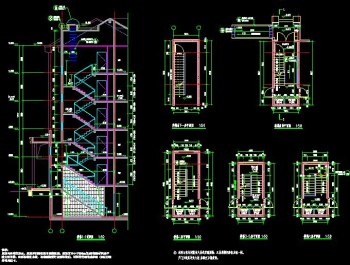 Stairs CAD design drawings