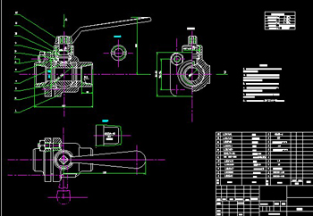Ball Valves CAD drawings