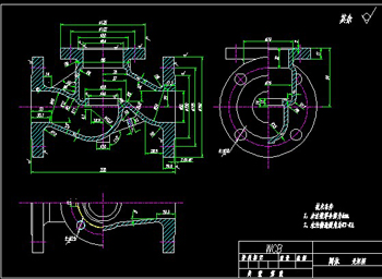 Valve body CAD drawings-3