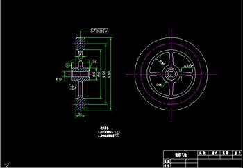 The flywheel Wheels CAD drawings