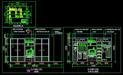 Combination Of Cad Drawing Dayang Wardrobe Free Download