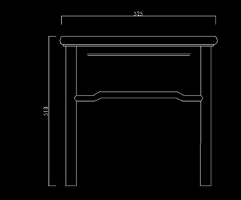 Ming and Qing furniture couch left view CAD