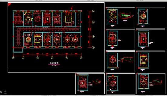 Interior decoration ceiling cad modeling /More in: free download
