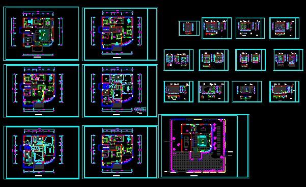 Phoenix villa villa decoration CAD drawings