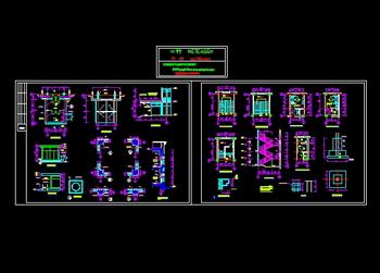 Big home improvement interior cad drawing