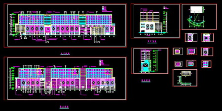 Multi-storey commercial and residential renovation program plans CAD drawings