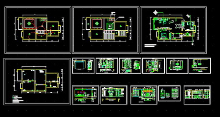 Garden design plans on CAD drawings, home improvement Free Download