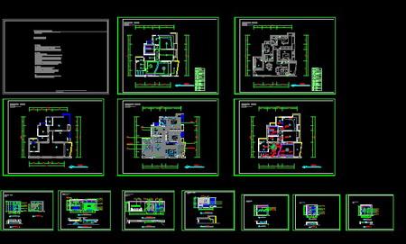 Raised floor home renovation plan CAD