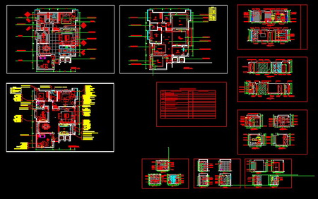Cad design home decoration plan