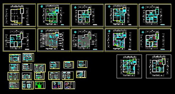 A double room decoration CAD drawings