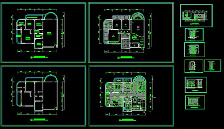 In A Simple CAD Style Interior Decoration Plan