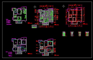Garden District Decoration CAD drawings
