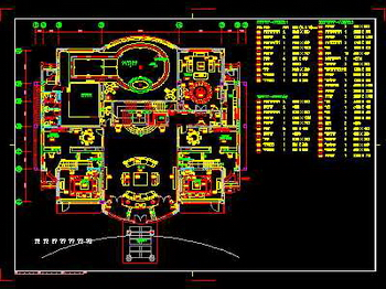 Interior Design Drawing: Oasis Community Interior Design AutoCAD Drawing