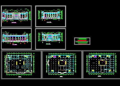 A complete set of bank decorate construction drawings