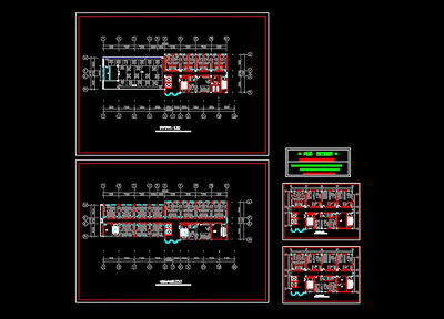 Leisure hotel decoration design CAD drawings