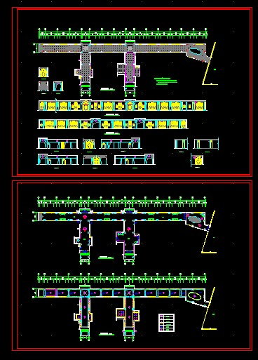 Sales hall corridor CAD decorate figure detailed map