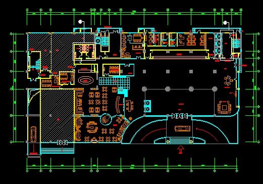 Four Star Hotel Cad Decorate Plan Plans Free Download