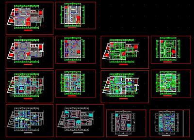Beijing poly plaza club plane CAD arrangement