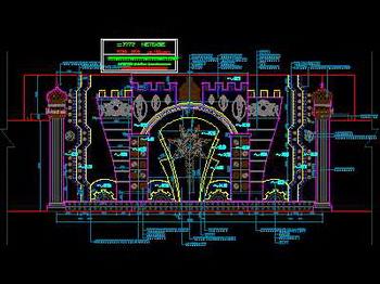 Nightclub stage decoration construction CAD map