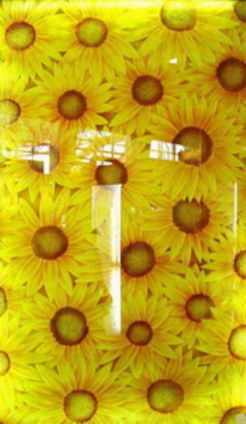 Perfect stained glass - sunflowers