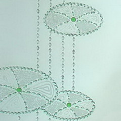 Simple and elegant lotus leaf glass textures