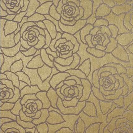 Gold Rose Pattern Wallpaper Free Download